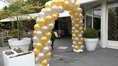 Ballonnendecoratie boog