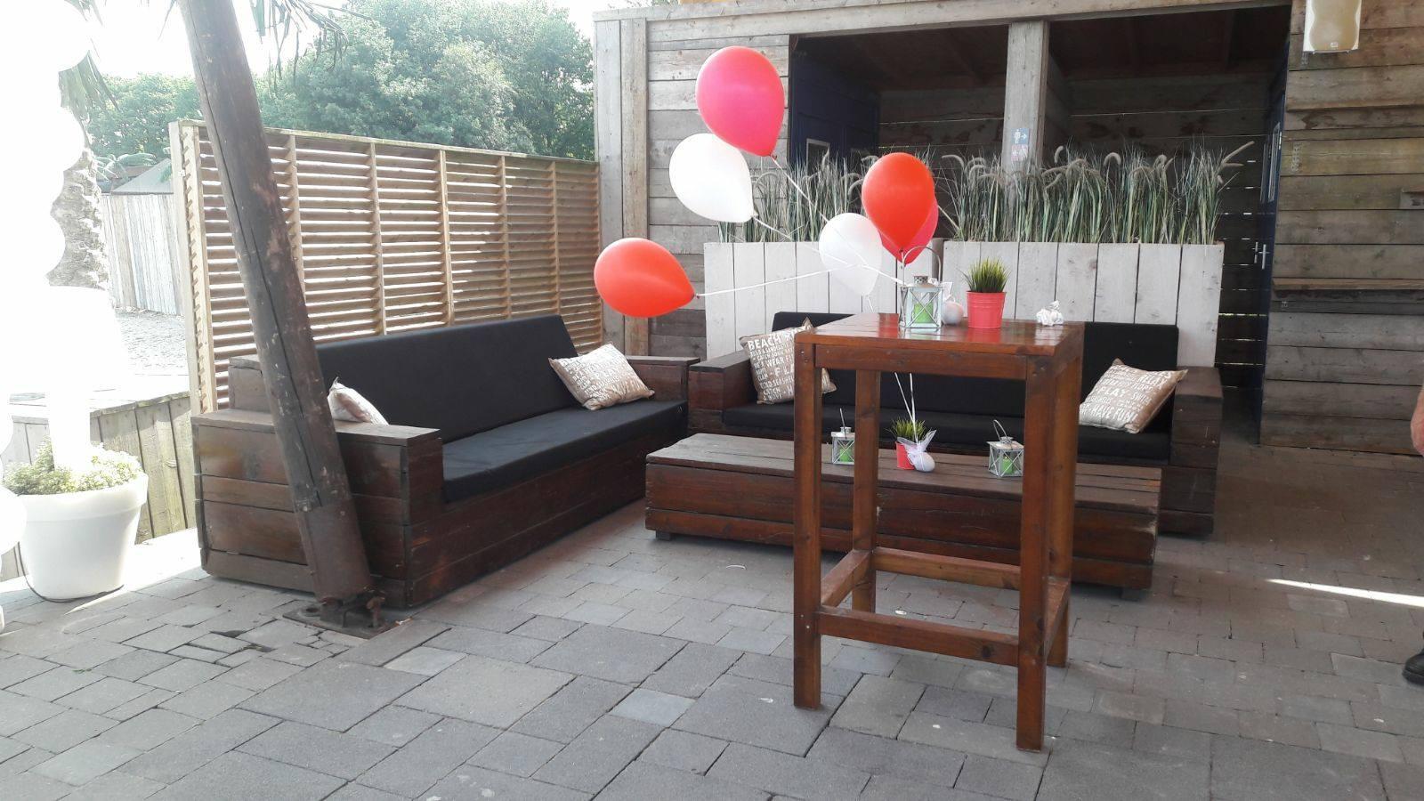 Ballonnen die zweven