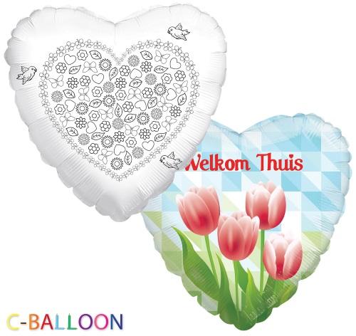 Welkom thuis ballon