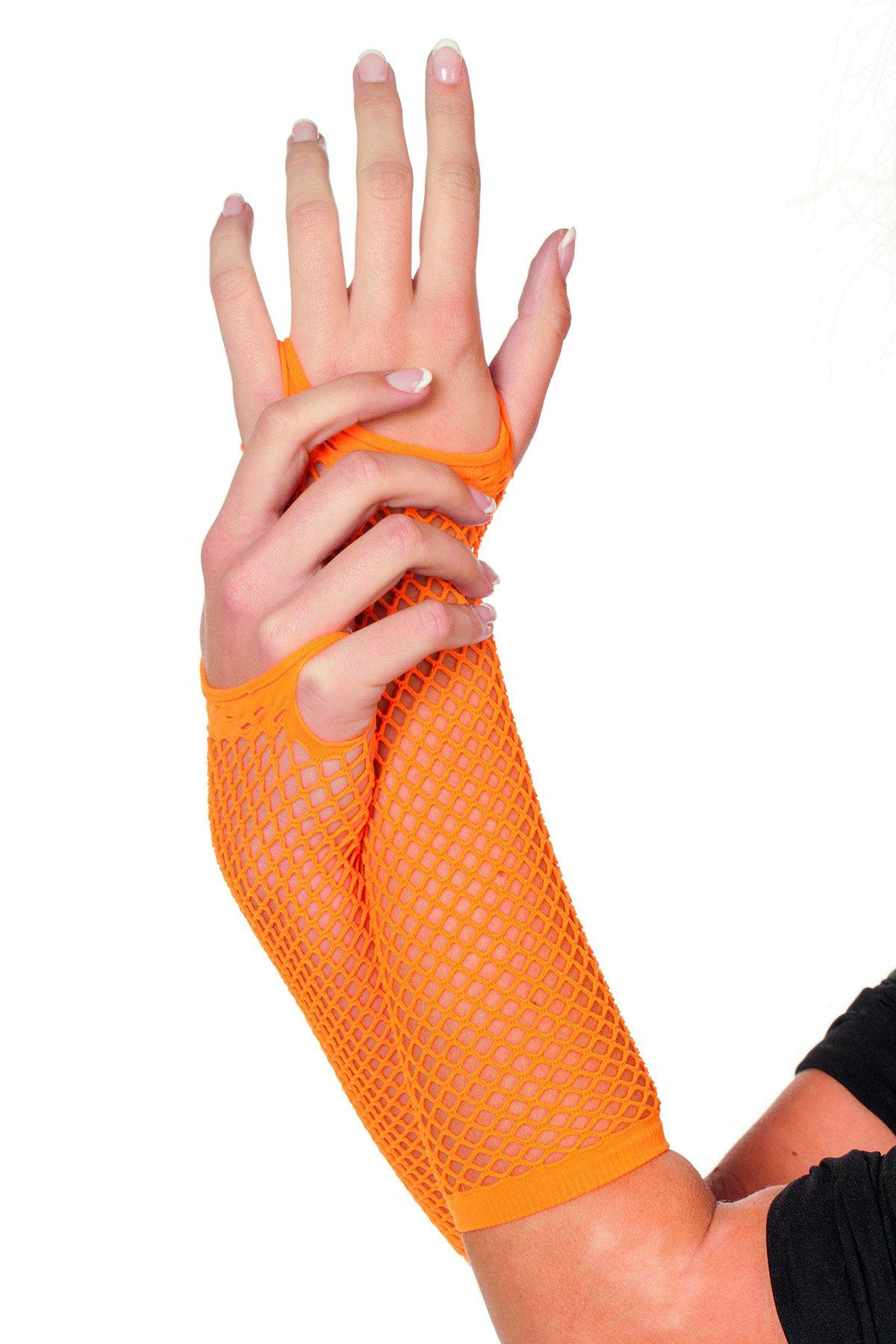 Handschoenen net, neon-oranje