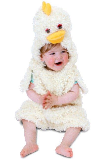 Kuiken kostuum wit unisex kinderen
