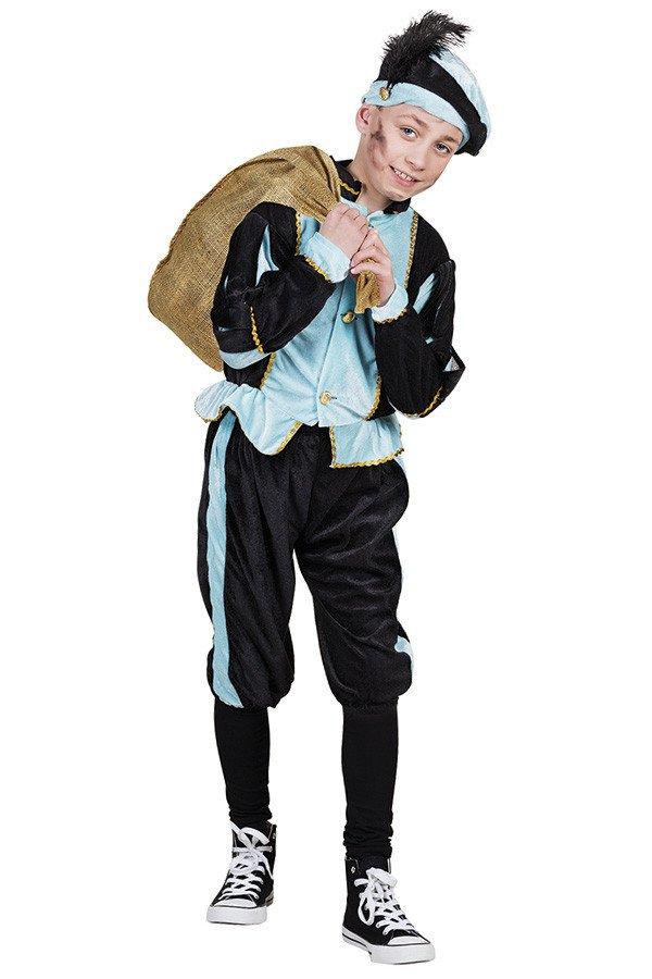 Kinderkostuum Piet blauw/zwart