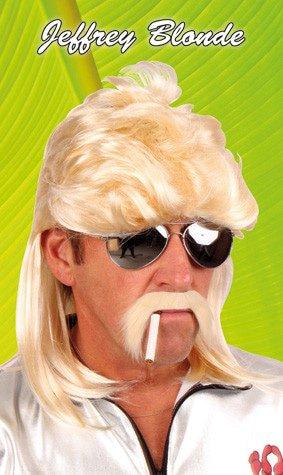 Pruik Jeffrey blond met matje