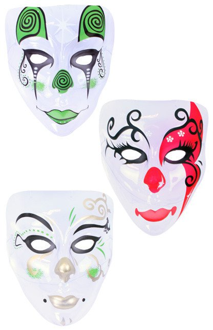 Masker Pierrot plastic transparant