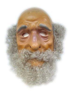 Masker abraham plastic met haar