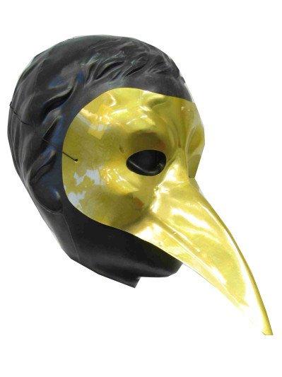 Snavelmasker Venetie goud plastic