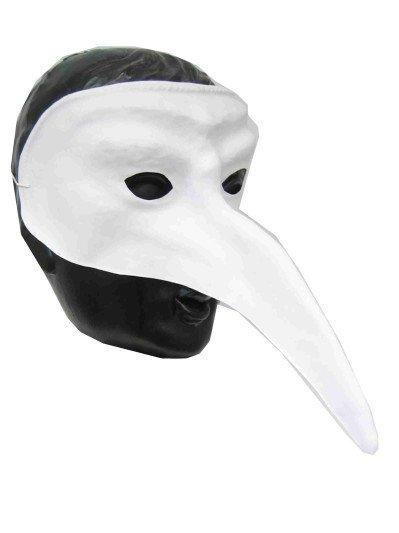 Snavelmasker Venetie wit plastic