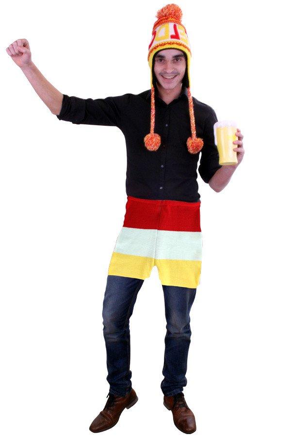 Gebreide onderbroek rood/wit/geel unisex
