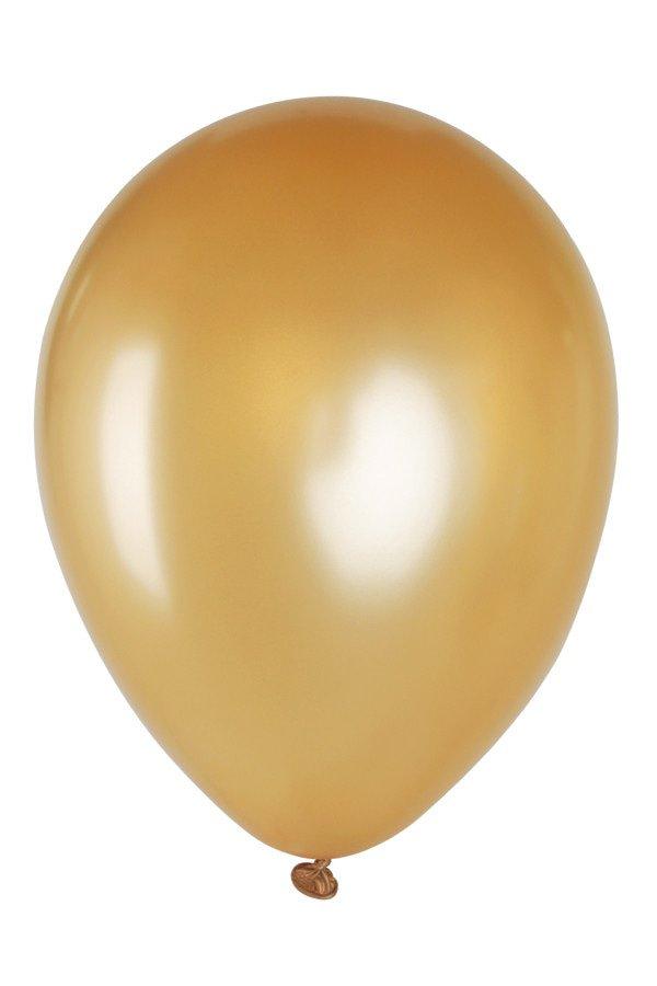 Ballonnen 12 inch per 8 GOUD METALLIC
