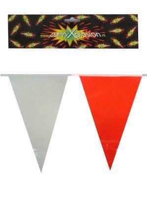 Vlaggenlijn pe rood/wit 20 vlag 10m
