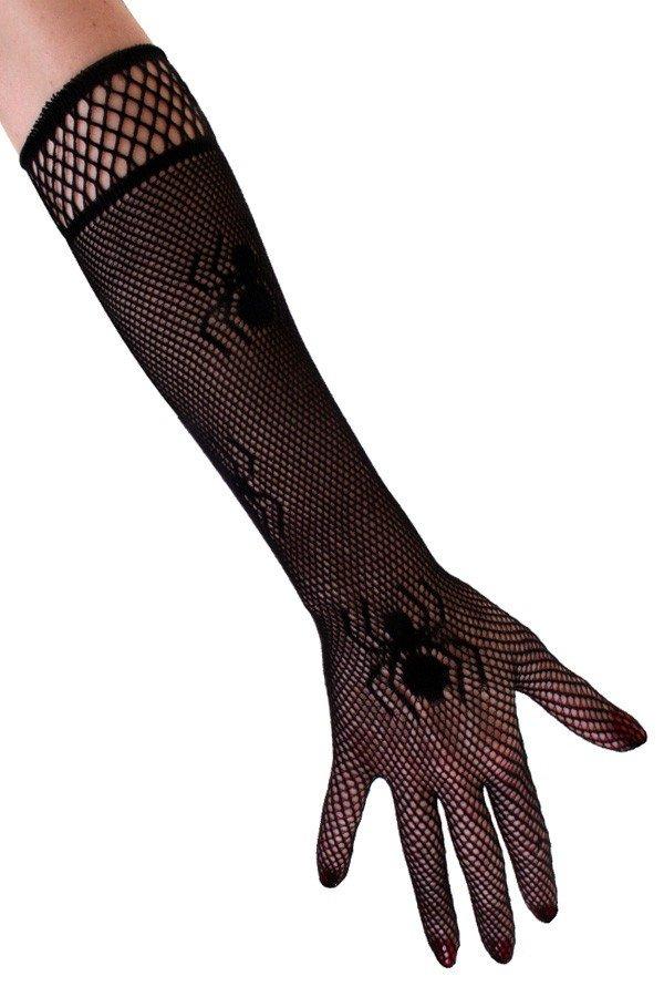 Nethandschoenen met spinnen