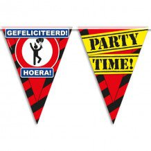 Party Vlaggen - gefeliciteerd