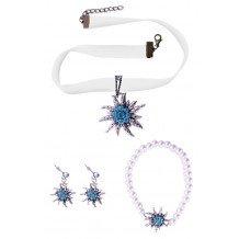 Set Tiroler DIRNDL collier oorbellen armband