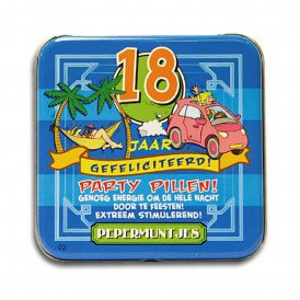 Pocket Tin - 18 jaar
