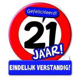 Wenskaarten - 21 jaar verkeersbord
