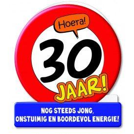 Wenskaarten - 30 jaar verkeersbord