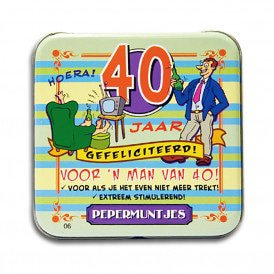 Pocket Tin - 40 jaar man