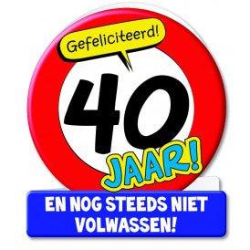 Wenskaarten - 40 jaar verkeersbord