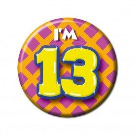 13 jarige button