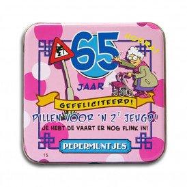 Pocket Tin - 65 jaar vrouw