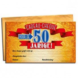 50 jaar Gift Cheque