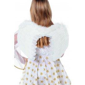 Vleugels engel blaadjes, wit