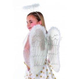 Vleugels en diadeem engel met marabu