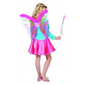 Vleugels pink met marabu bezetting