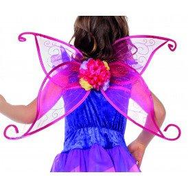 Vleugels pink met bloemetjes