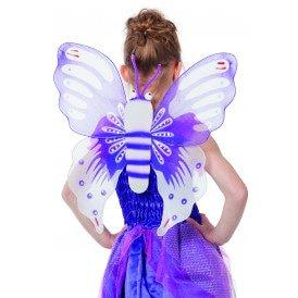 Vleugels vlinder paars  kinder