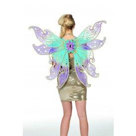 Vleugels vlinder blauw/roze