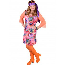 70's jurk Summer flower