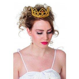 Tiara basic met kleuren, goud