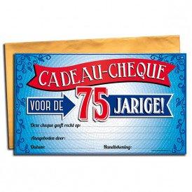 75 jaar Gift Cheque