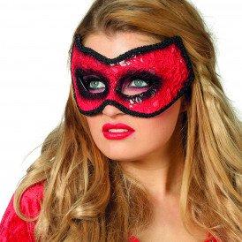 Masker (bril) kant rood/zwart
