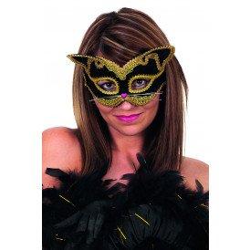 Masker (bril), kat zwart luxe