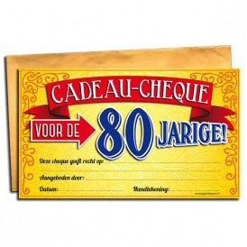 80 jaar Gift Cheque