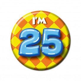 25 jaar leeftijd button