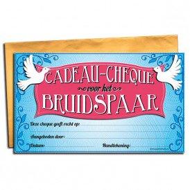 Bruidspaar Cadeau cheque