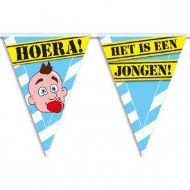 Party Vlaggen - geboorte jongen
