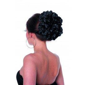 Haarclip bloem, zwart