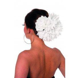 Haarclip bloem, wit