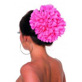 Haarclip bloem, roze