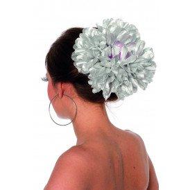 Haarclip bloem, zilver