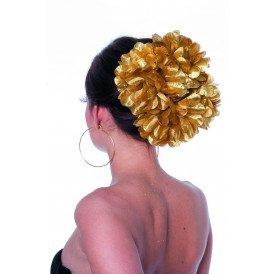 Haarclip bloem, goud