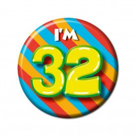 32 jaar button