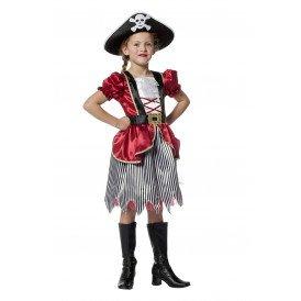 Piratenmeisje bordeaux