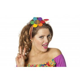 Haarband bloem hippie