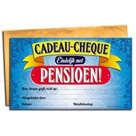pensioen Gift Cheque