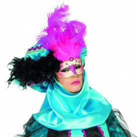 Venetiaans masker grote veer